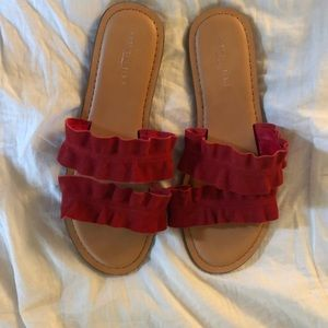 red american eagle sandals